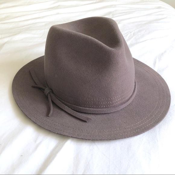 f6e3fe0ed869e Brixton Accessories - Brixton Gray Felt Wide Brim Fedora Hat sz Small